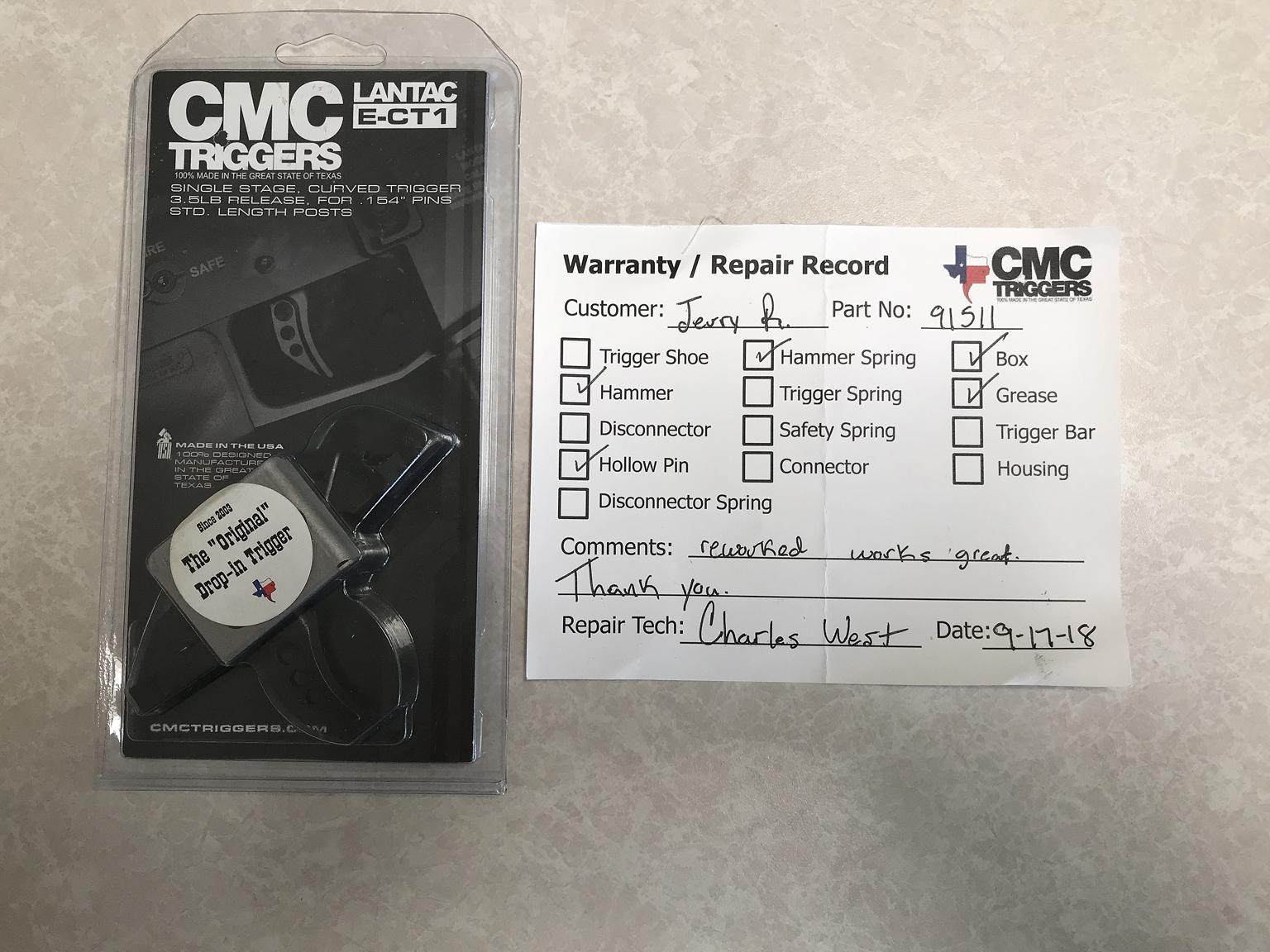 Name:  IMG_3809 CMC Returned Trigger.jpg Views: 1625 Size:  987.3 KB